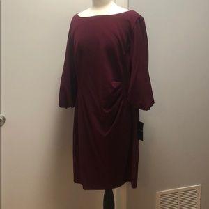 NWT Ralph Lauren sheath dress in a rich plum